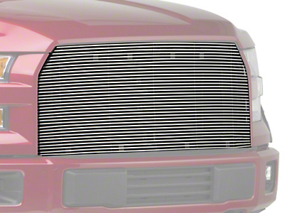 Modern Billet Upper Replacement Grille - Polished (15-17 F-150, Excluding Raptor)