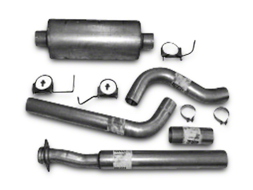 Heartthrob 4 in. Aluminized Single Exhaust System - Side Exit (15-18 2.7L EcoBoost F-150)
