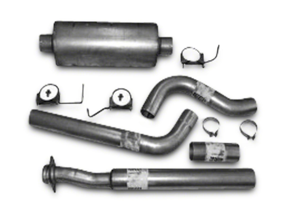 Heartthrob 4 in  Aluminized Single Exhaust System - Side Exit (11-14 3 5L  EcoBoost F-150)