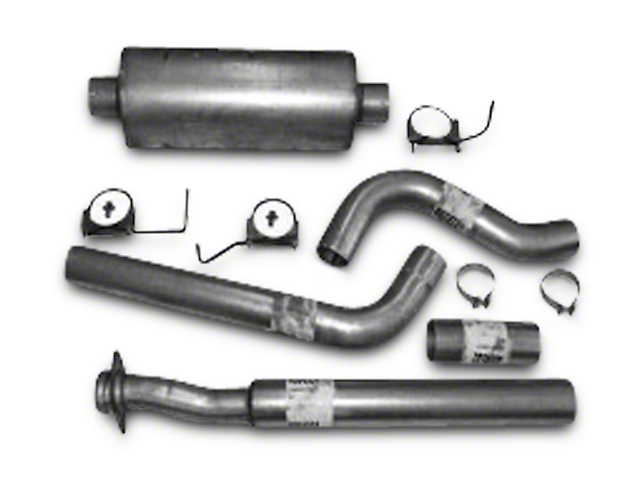Heartthrob 4 in. Aluminized Single Exhaust System - Side Exit (15-19 5.0L F-150)