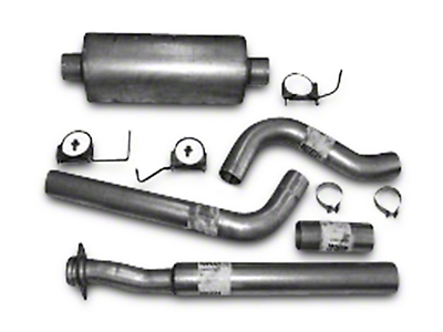 Heartthrob 4 in. Aluminized Cat-Back Exhaust System - Single Side Exit (15-18 5.0L)