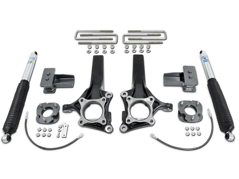 Max Trac 7-Inch Front / 4-Inch Rear MaxPro Suspension Lift Kit with Shocks (15-20 2WD F-150)