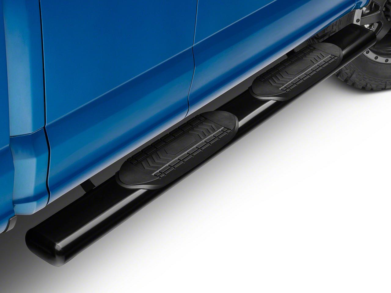 Barricade 6 in. Oval Straight Side Step Bars - Black (15-19 F-150 Regular Cab, SuperCab)