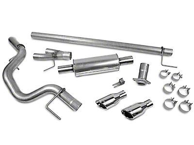 Roush Cat-Back Exhaust - Single Side Exit (15-18 2.7L EcoBoost)