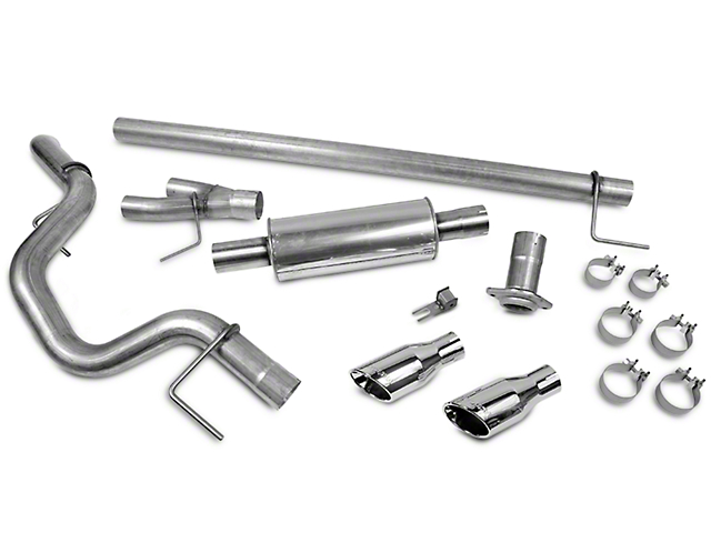 Roush Single Exhaust System - Side Exit (15-18 3.5L EcoBoost F-150, Excluding Raptor)