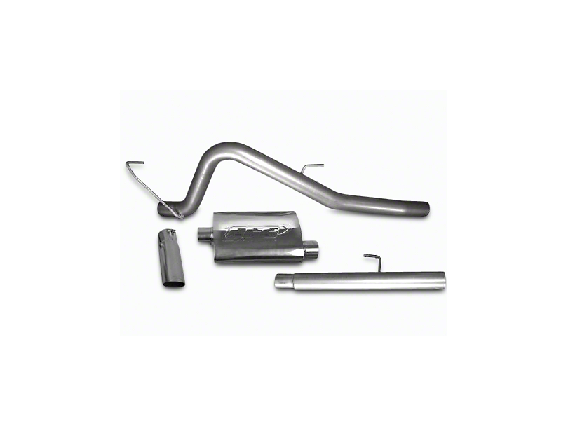 CGS Motorsports Aluminized Single Exhaust System - Aggressive Tone - Side Exit (11-14 5.0L F-150)