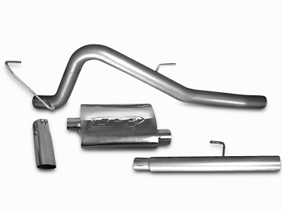 CGS Motorsports Aluminized Single Exhaust System - Aggressive Tone - Side Exit (11-14 5.0L)