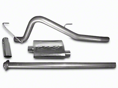 CGS Motorsports Aluminized Single Exhaust System - Mild Tone - Side Exit (11-14 6.2L, Excluding Raptor)