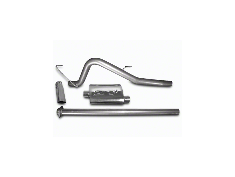 CGS Motorsports Stainless Single Exhaust System - Mild Tone - Side Exit (11-14 6.2L F-150, Excluding Raptor)
