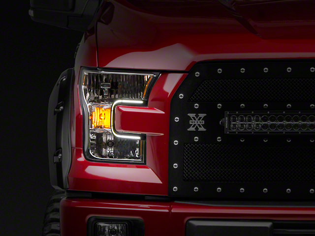 Putco SwitchBack LED DayLiners - Black (15-17 F-150; 2018 F-150 Raptor)
