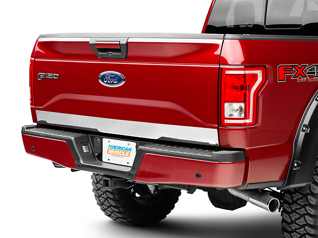 Tailgate Upper and Lower Accent; Chrome (15-20 F-150)