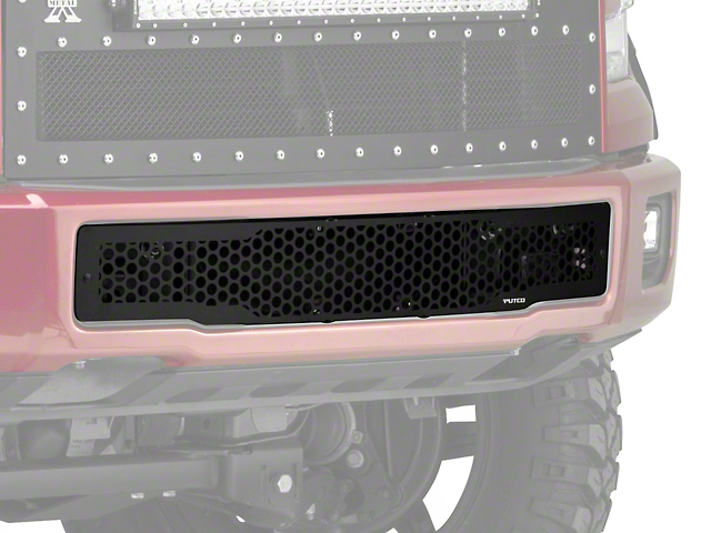 Putco Punch Design Lower Bumper Grille Insert - Black (15-17 F-150)
