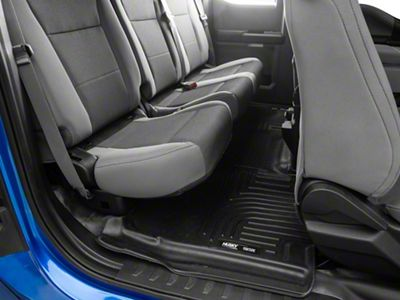 Husky X-Act Contour 2nd Seat Floor Liner - Full Coverage - Black (15-19 F-150 SuperCrew)