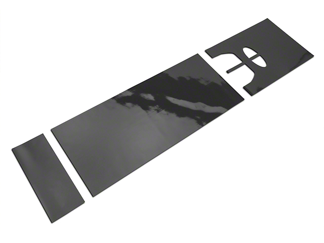 American Muscle Graphics Matte Black Full Length Stripes - 10-1/4 in. (15-17 All)