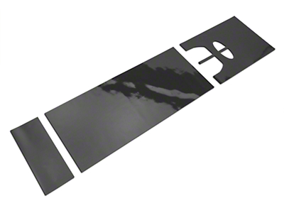 American Muscle Graphics Matte Black Full Length Stripes - 10-1/4 in. (15-18 All)