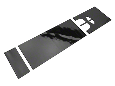 American Muscle Graphics Black Full Length Stripes - 10-1/4 in. (15-17 All)