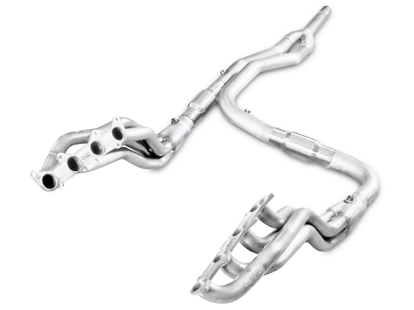 Stainless Works 1-7/8 in. Headers w/ Catted Y-Pipe - Factory Connect (15-17 5.0L)