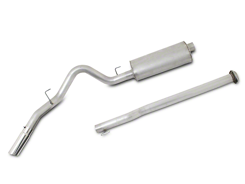 Gibson 3 in. Single Stainless Cat-Back Exhaust System - Single Side Exit (15-17 5.0L)
