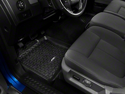 Rugged Ridge Front & Rear Floor Liner Kit - Black (09-14 Regular Cab)