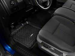 Rugged Ridge Front & Rear Floor Mat Kit - Black (09-14 F-150 SuperCab & SuperCrew)