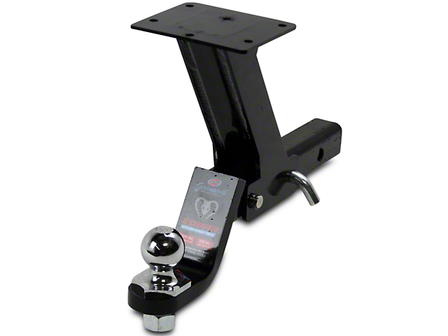 GMS Cobra 2 in. Receiver & Winch Tower w/ 8 in. Elevated Tilting Winch Pad (97-17 All)