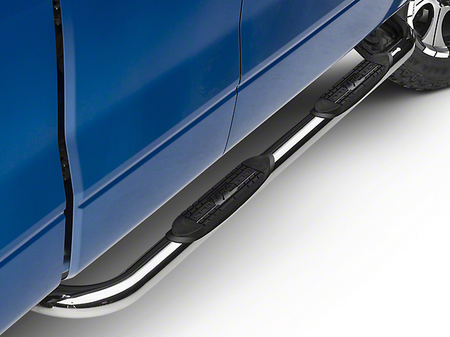 Raptor Series 3 in. Round Nerf Side Step Bars - Polished Stainless (09-14 F-150 SuperCab, SuperCrew)