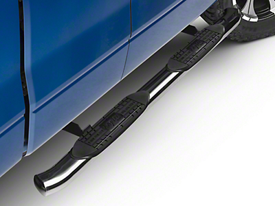 Raptor Series 4 in. OE Style Curved Oval Side Step Bars - Polished Stainless (09-14 F-150)