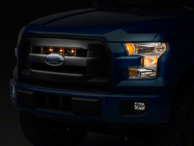 Raxiom Raptor Style XL Grille Light Kit - Plug-and-Play (15-17 F-150 XL, XLT)
