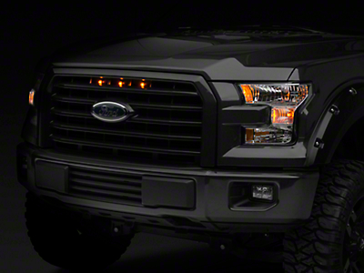 Raxiom Raptor Style 5 Bar Grille Light Kit - Plug-and-Play (15-17 XLT; 2017 XL w/ STX Package)