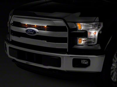 Raxiom Raptor Style 3 Bar Grille Light Kit - Plug-and-Play (15-17 F-150 Lariat w/ Halogen Lights)