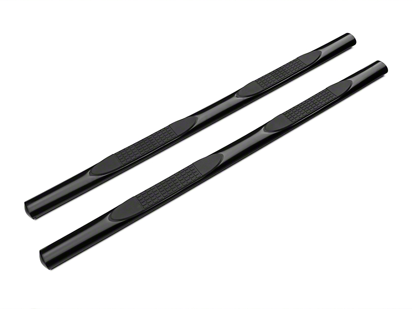 Barricade 4 in. Oval Straight Side Step Bars - Gloss Black (01-03 F-150 SuperCrew)