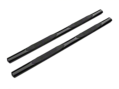 Barricade 4 in. Oval Straight Side Step Bars - Gloss Black (01-03 SuperCrew)