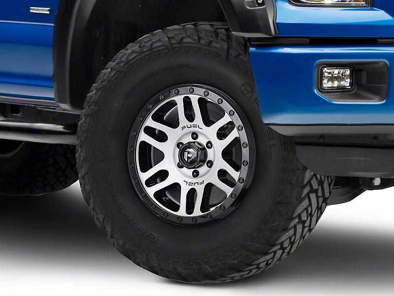 Fuel Wheels Recoil Black Machined 6-Lug Wheel - 18x9 (04-18 F-150)