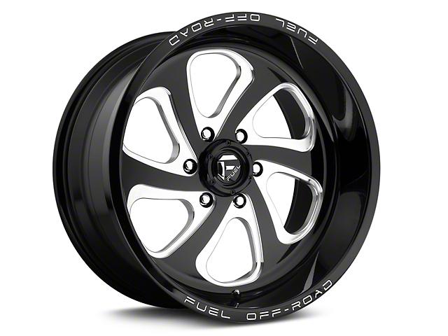 Fuel Wheels Flow 6 Black Milled 6-Lug Wheel - 20x10 (04-18 All)
