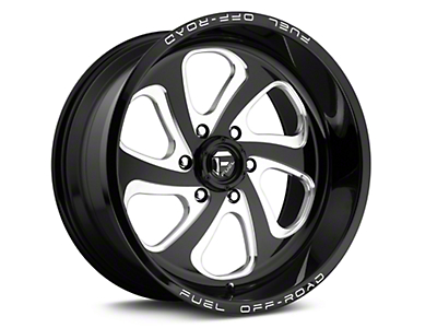 Fuel Wheels Flow 6 Black Milled 6-Lug Wheel - 20x10 (04-18 All)
