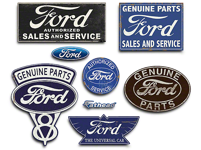 Ford Service Decals : Fathead f ford garage signs and wall decals