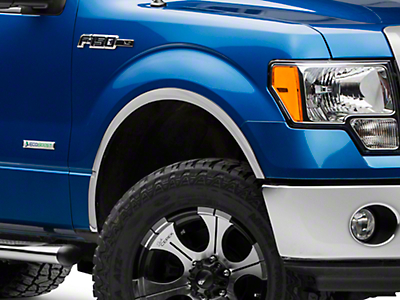Stainless Steel Fender Trim - Polished (04-14 F-150 w/o OEM Flares)