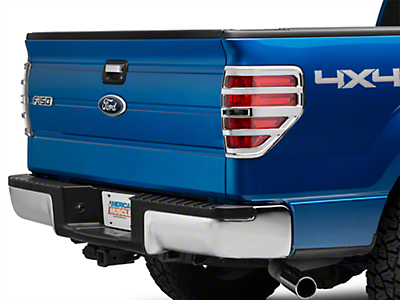 Chrome Tail Light Covers (09-14 Styleside, Excluding Raptor)