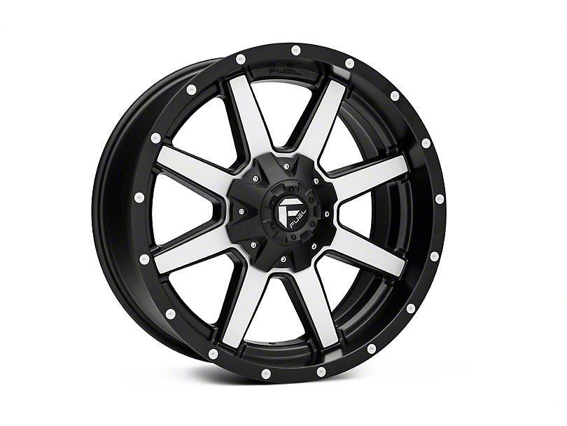 Fuel Wheels Maverick Matte Black Machined 6-Lug Wheel - 17x9 (04-18 All)