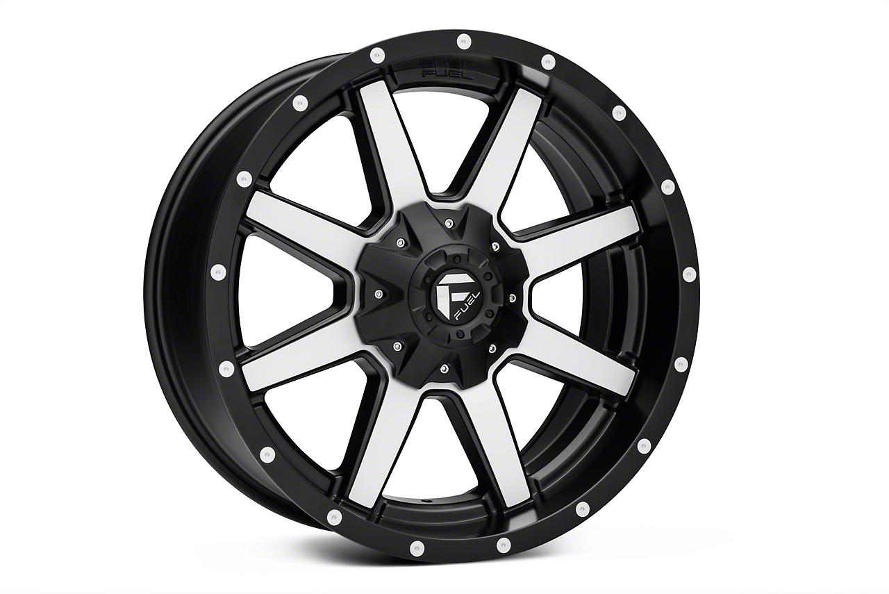 Fuel Wheels Maverick Matte Black Machined 6-Lug Wheel - 17x9 (04-17 All)