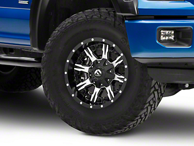 Fuel Wheels Nutz Black Machined 6-Lug Wheel - 17x9 (04-17 All)