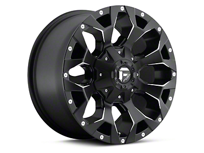 Fuel Wheels Assault Black Milled 6-Lug Wheel - 17x8.5 (04-17 All)
