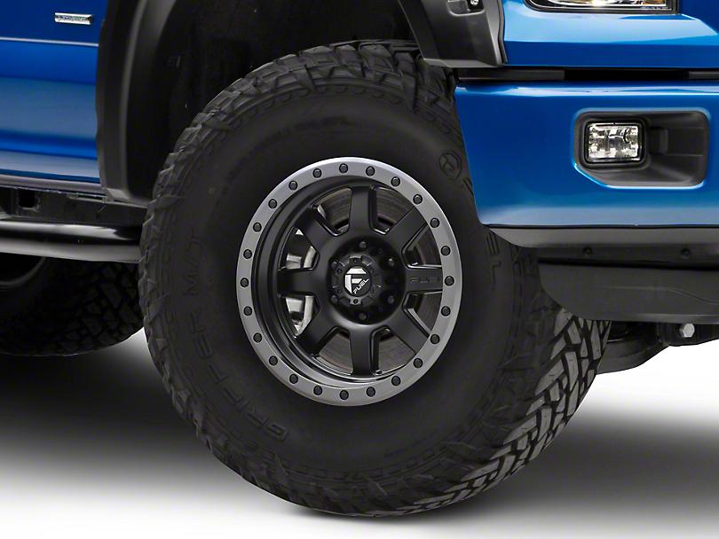 Fuel Wheels Trophy Matte Black w/ Anthracite Ring 6-Lug Wheel - 17x8.5 (04-17 All)