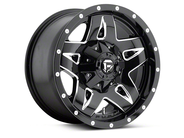 Fuel Wheels Full Blown Gloss Black Milled 6-Lug Wheel - 17x9 (04-17 All)