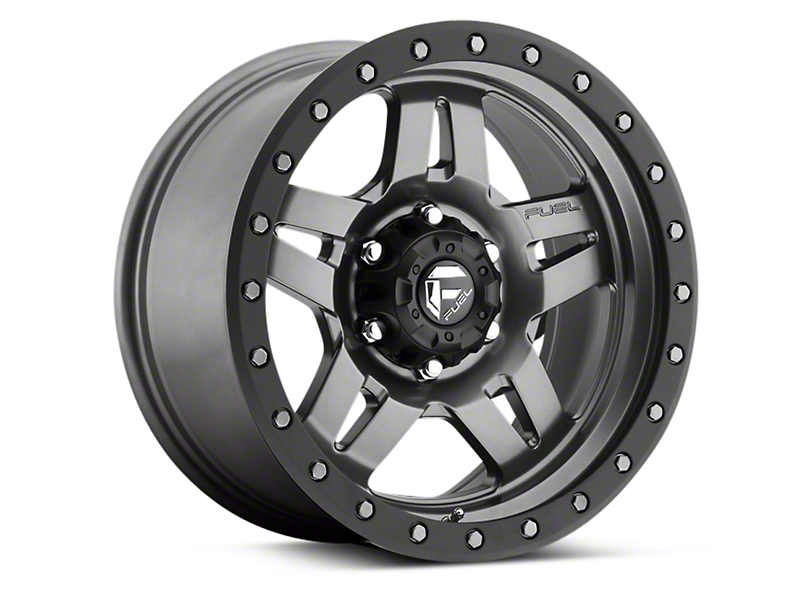 Fuel Wheels Anza Matte Anthracite w/ Black Ring 6-Lug Wheel - 17x8.5 (04-19 F-150)