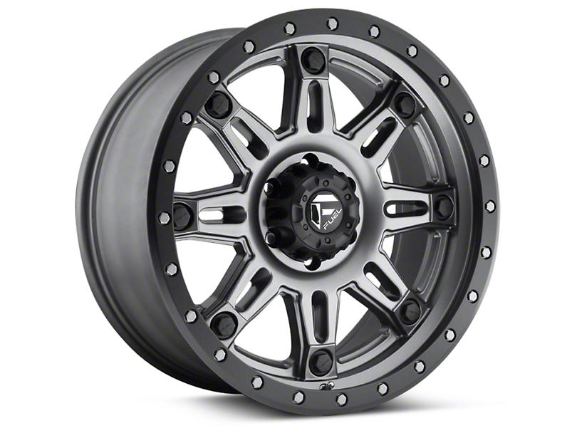 Fuel Wheels Hostage III Matte Anthracite w/ Black Ring 6-Lug Wheel - 17x9 (04-19 F-150)