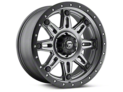 Fuel Wheels Hostage III Matte Anthracite w/ Black Ring 6-Lug Wheel - 17x9 (04-18 F-150)