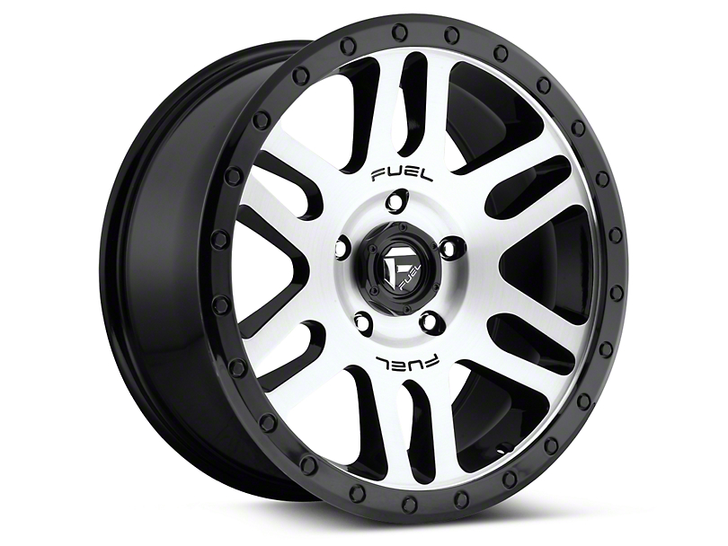 Fuel Wheels Recoil Black Machined 6-Lug Wheel - 17x8.5 (04-18 All)