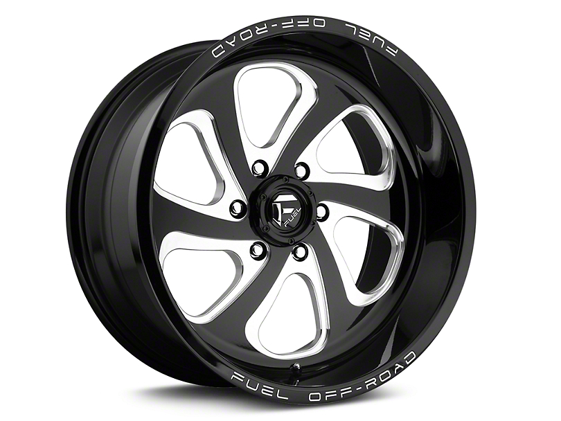 Fuel Wheels Flow Black Milled 6-Lug Wheel - 17x9 (04-19 F-150)
