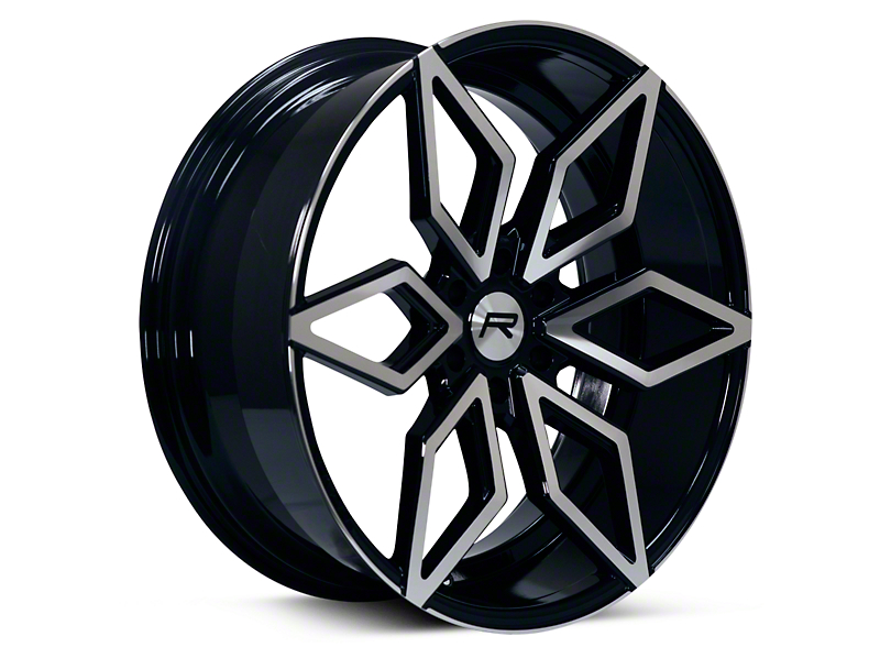 Rovos Kimberley Black Machined 6-Lug Wheel - 24x10; 25mm Offset (04-08 F-150)